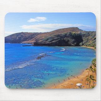 Bahía de Hanauma, opinión de Honolulu, Oahu, Hawai Alfombrilla De Ratones