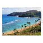 Bahía de Hanauma, opinión de Honolulu, Oahu, Hawai Tarjetas