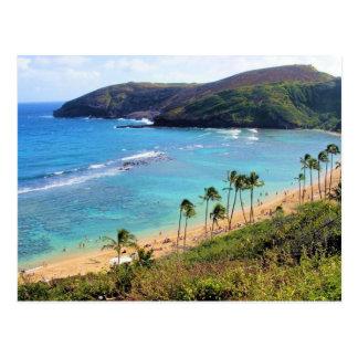 Bahía de Hanauma, opinión de Honolulu, Oahu, Hawai Postal