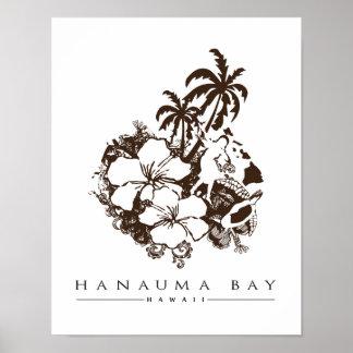 Bahía de Hawaii Hanauma Impresiones