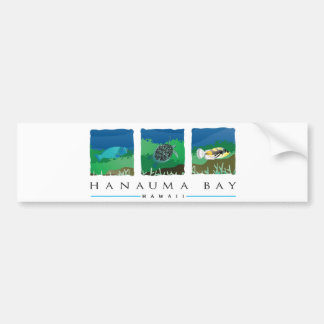 Bahía de Hawaii Hanauma Pegatina Para Auto