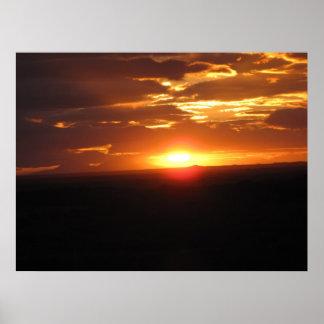 Bahía de Jeffreys de la puesta del sol Póster