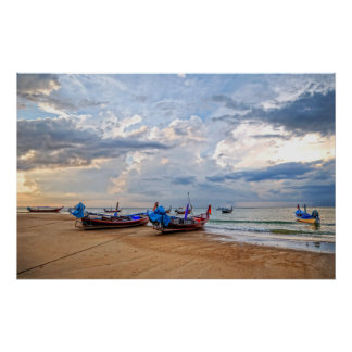 Bahía de Kamala en Tailandia, isla Phuket. Póster
