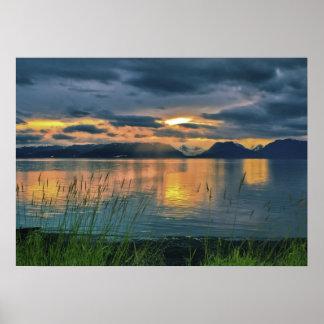 Bahía de Kechemak, impresión de Alaska Póster
