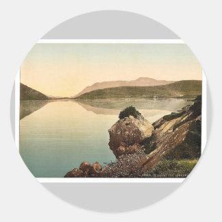 Bahía de Killary, Connemara. Co. magnif de Galway, Pegatina Redonda
