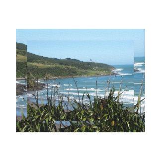 Bahía de la ballena, raglán, NZ Impresiones En Lona