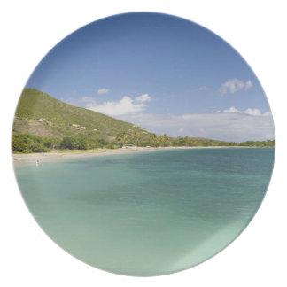 Bahía de la concha de berberecho península surori plato