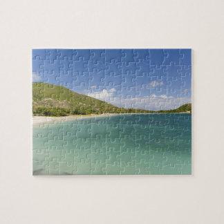 Bahía de la concha de berberecho, península surori puzzle con fotos