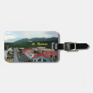 Bahía de la corona, St Thomas, etiqueta del equipa Etiquetas Maletas