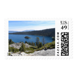 Bahía de la esmeralda de Tahoe- del lago Sello Postal