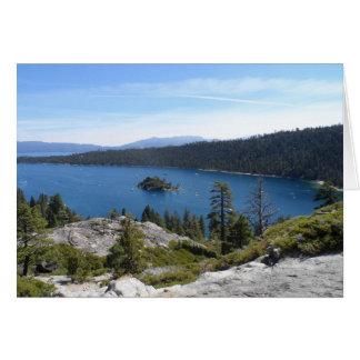 Bahía de la esmeralda de Tahoe- del lago Tarjeta Pequeña