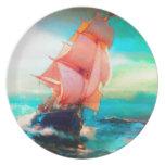 Bahía de la libertad, navegación del océano, salid plato para fiesta