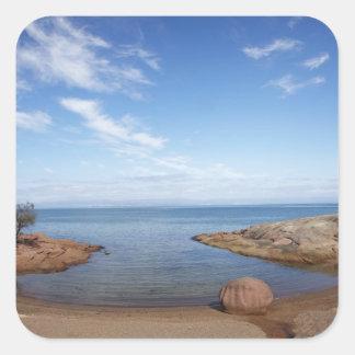 Bahía de la luna de miel bahía de Coles nacional Pegatinas Cuadradas