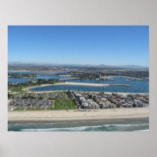 Bahía de la misión, California Póster