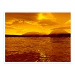 Bahía de la puesta del sol - postal