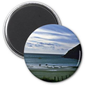 Bahía de las bebidas espirituosas, cabo del norte, imán redondo 5 cm
