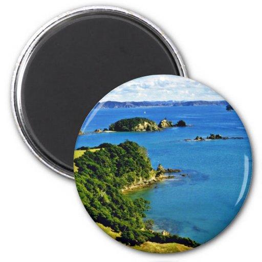 Bahía de las islas, isla del norte imán para frigorifico