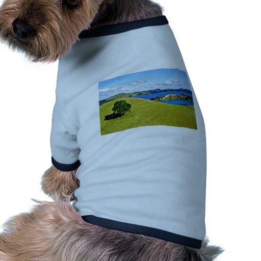 Bahía de las islas, isla del norte camiseta con mangas para perro