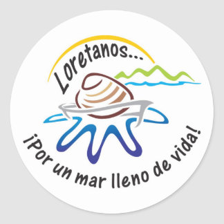 Bahía de Loreto - pegatinas Pegatina Redonda