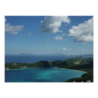 Bahía de Magens, escena hermosa de la isla de St Perfect Poster