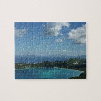Bahía de Magens, escena hermosa de la isla de St Puzzle