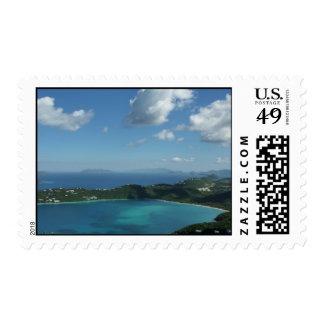 Bahía de Magens, escena hermosa de la isla de St Sello Postal