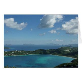 Bahía de Magens, escena hermosa de la isla de St Tarjeta De Felicitación