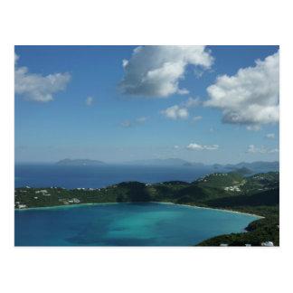 Bahía de Magens, escena hermosa de la isla de St Tarjeta Postal