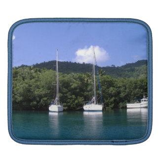 Bahía de Marigot manga del iPad de la Santa Lucía Funda Para iPads