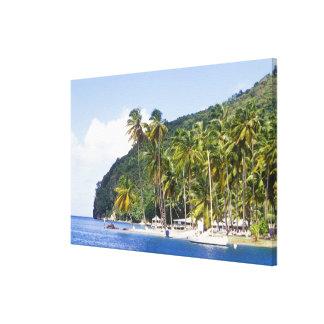 Bahía de Marigot St Lucia del Caribe Lienzo Envuelto Para Galerías