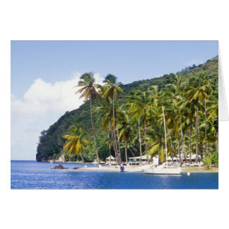 Bahía de Marigot St Lucia del Caribe Felicitación