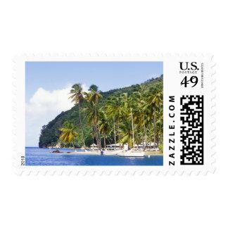 Bahía de Marigot, St Lucia, del Caribe Estampillas