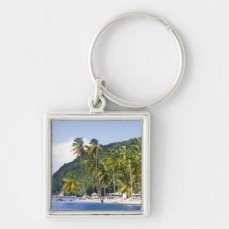 Bahía de Marigot St Lucia del Caribe Llavero Personalizado