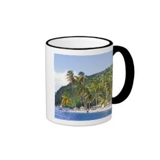 Bahía de Marigot St Lucia del Caribe Tazas De Café