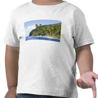 Bahía de Marigot St Lucia del Caribe Camisetas
