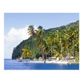 Bahía de Marigot, St Lucia, del Caribe Postal