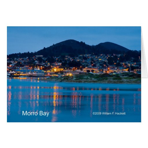 Bahía de Morro después de los productos oscuros de Tarjeta