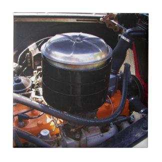 Bahía de motor clásica de Dodge Azulejo Cuadrado Pequeño