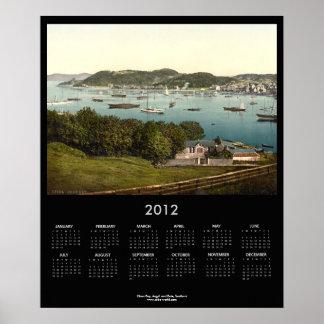 Bahía de Oban, Argyll y Bute, calendario de Escoci Impresiones