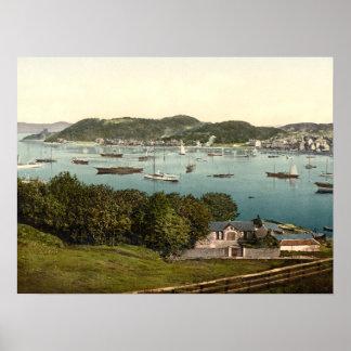 Bahía de Oban, Argyll y Bute, impresión archival d Poster