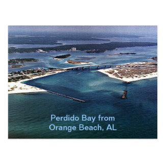 Bahía de Perdido de la playa anaranjada AL Postal