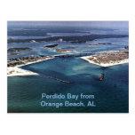 Bahía de Perdido de la playa anaranjada, AL Tarjeta Postal