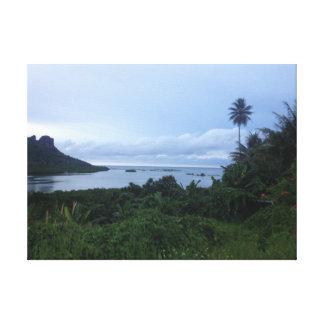 Bahía de Pohnpei Impresión En Lienzo