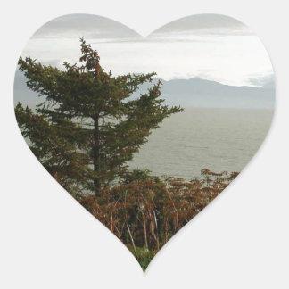 Bahía de Scenics Kachemak Pegatina En Forma De Corazón