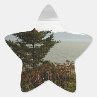 Bahía de Scenics Kachemak Pegatina En Forma De Estrella