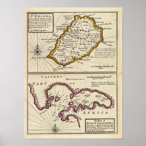 Bahía de St. Helena de Agoa de Saldanha Póster
