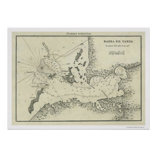 Tampa Florida On Map.Map Of Tampa Florida Posters Photo Prints Zazzle