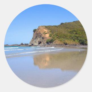 Bahía de Tapotupotu, Nueva Zelanda Etiquetas Redondas