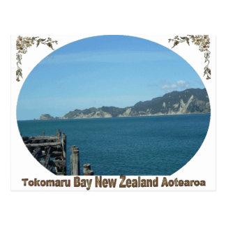 Bahía de Tokomaru, Eastcoast, Nueva Zelanda Tarjeta Postal