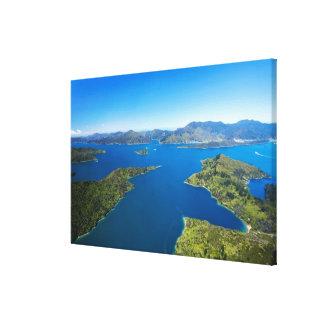 Bahía de Torea, sonido de la reina Charlotte, Marl Lienzo Envuelto Para Galerías